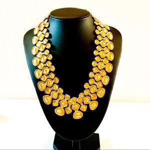 🌟 Napier Gold Runway Statement Necklace 🌟